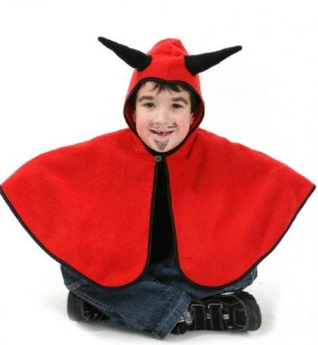 en mit Kapuze Fasching Kinderkostüm - Fleece - Gr 98 (Teufel Kostüm Kleinkind)