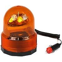 takestop® - Girophare d'urgence 360°, orange, 12V, base magnétique