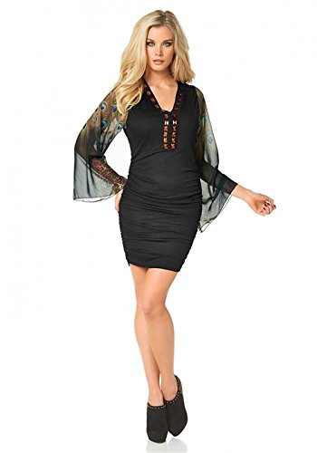 Melrose Damen-Tunika Tunika-Kleid mit Steinen Mehrfarbig Größe 38