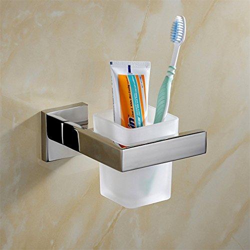 Weare Home zur Wandmontage SUS304 Edelstahl Badezimmer Bad-Serie Glasbecher und Becherhalter -