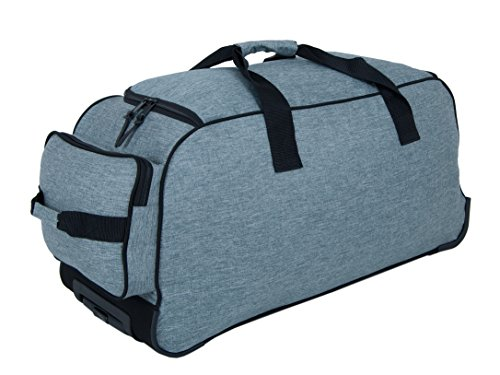TRAVEL BAG-TROLLEY, Roll-Reisetasche, Sport-TROLLEY, Mega-Volumen-Reisetasche, (Dunkelgrau) Hellgrau