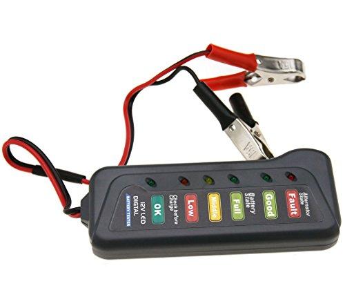 12V 6 LED testeur de batterie et alternateur indicateurs Digital pour moto voiture