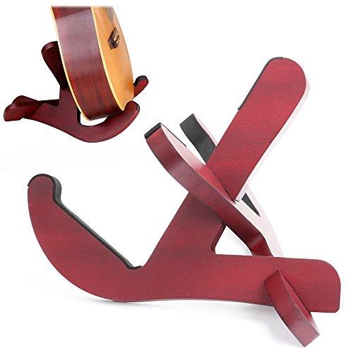 Haichen Ukulele Stand Universal X-Frame Style Detachable wooden Stand for Ukulele, Mandolin, Banjo and violin