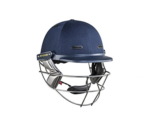MASURI VS Test Stahl Erwachsene Crickethelm, Marineblau, Groß