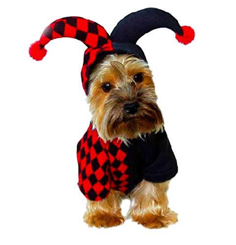 Mieel Haustier Kleidung Herbst Washed Pet Bekleidung Lovely Bequemes Hunde Vest Party Puppy Kapuzenpullover Festlich Kostüm Wintermäntel Halloween Kostüme Clown - Weiblich Clown Halloween-kostüme