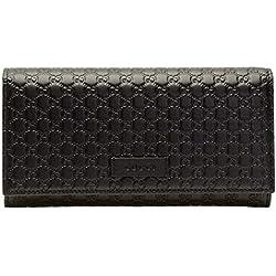Gucci - Cartera para mujer Negro Negro H 10 x W 19 x D 2.5 cm