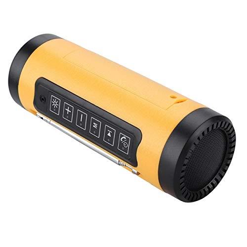 qiyan, tragbarer Bluetooth-Multifunktionslautsprecher, Stereo-Soundbar, Unterstützung für MP3-U-Disk/TF-Karte mit IP4-wasserdichten tragbaren Design-In-Lautsprechern, orange - Bluetooth Stereo Clarion
