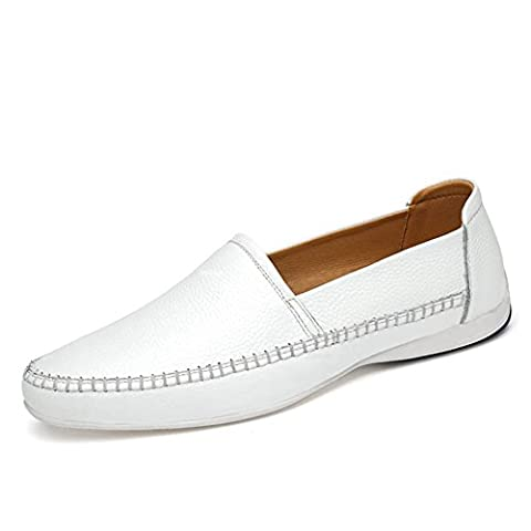 ailisharoy Pour des hommes Décontractée Au volant Chaussures de voiture Glisser sur Flâneurs Mocassins pour homme en cuir véritable (41 EU,