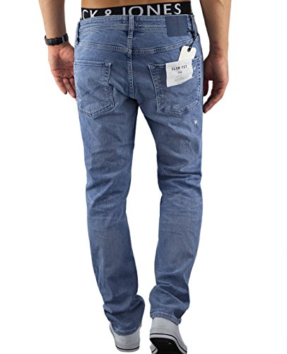 Jack & Jones Herren Jeans / Slim Fit Jeans jjItim jjOriginal Blau