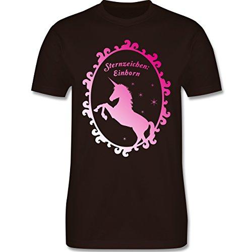Statement Shirts - Sternzeichen: Einhorn - Herren Premium T-Shirt Braun