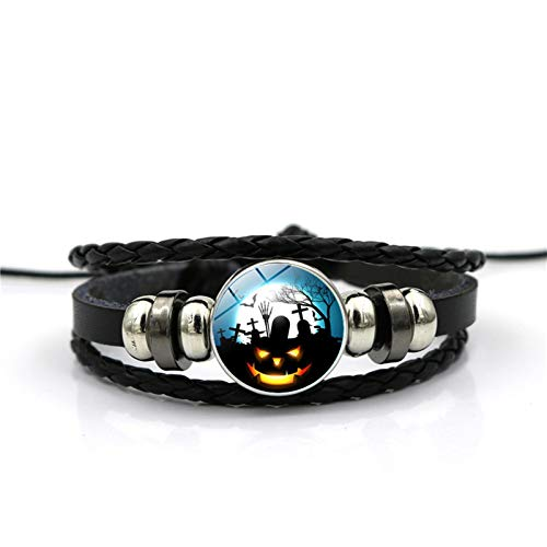 Blisfille Handgemachte Halloween Grimasse Zeit Edelstein Armband Mode Armband Armband Herren Damen Schmuck