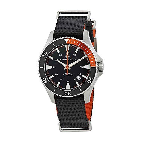 Hamilton Reloj de Hombre automático 40mm Correa de Nylon Color Negro H82305931