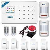 KERUI-W18 WiFi GSM SMS APP Télécommande Système d'alarme de sécurité Accueil, Détecteur de Ouverture Porte Fenêtre