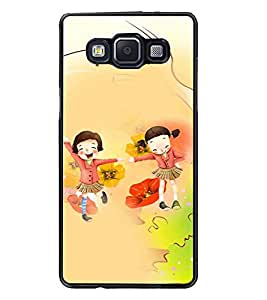 PrintDhaba School Buddies D-3048 Back Case Cover for SAMSUNG GALAXY E5 (Multi-Coloured)