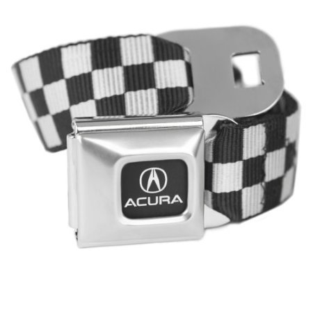 checkered-white-acura-seatbelt-buckle-fashion-belt-officially-licensed