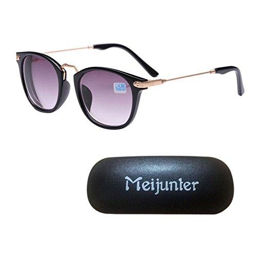 men Personalisierte Gläser Runde Anti-UV Kurzsichtig Brille UV400 Kurzsichtigkeit Sonnenbrille -4.00 (Personalisierte Tafel)