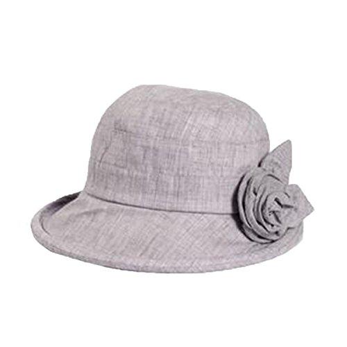 Mai Dou Dames Printemps été Mode Chapeau De Soleil Grey