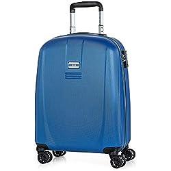 JASLEN - Maleta de Viaje Cabina 55x40x20 4 Ruedas Trolley ABS. Equipaje de Mano. Rígida, Resistente y Ligera. Mango y Asas. Candado TSA. Low Cost. Ref. 56550, Color Azul