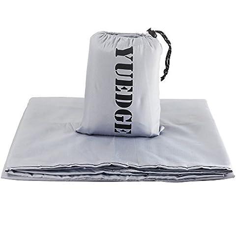 YUEDGE Travel and Camping Sleeping Bag Liner, sac de sommeil compact et sac confortable, pour les voyages, les auberges de jeunesse, les pique-niques, les avions, les trains