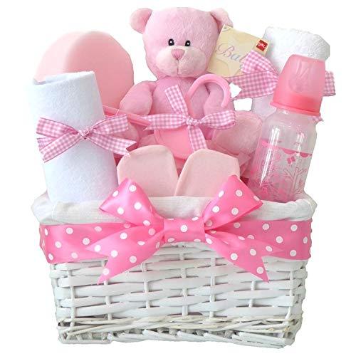 Angel en osier blanc rose bébé Panier Cadeau/Panier/Baby Pour Bébé/Cadeau de douche NEW ARRIVAL Souvenir de bébé/Cadeau/envoi rapide