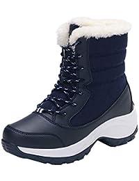 ZODOF Botas de Nieve Mujeres, Otoño Invierno Botas Mujeres Botas Dulces Botas Planas con Estilo Botas de Tubo Alto Zapatos de Mujer Absolute