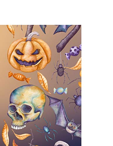 Carnet de Notes: Halloween - Grand journal personnel de 121 pages blanches avec couverture et pages sur le thème d'Halloween
