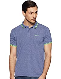 Pepe Jeans Men's Solid Regular fit Polo