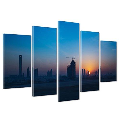Dubai skyline single toile murale art encadrée imprimer