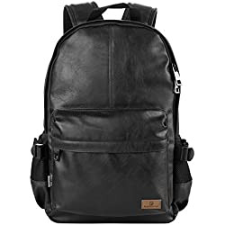 "'Koolertron Classic Casual PU Cuero Vintage Fashion UNISEX escuela estudiante mochila para portátil (14 "") para acampar viaje adapta Acer Aspire MacBook iPhone iPad y Samsung Tablet"