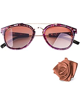Aiblii Retro UV400 Unisex Polarized Sunglasses - Vintage Polarized Wayfarer Gafas de Sol para Hombres y Mujeres