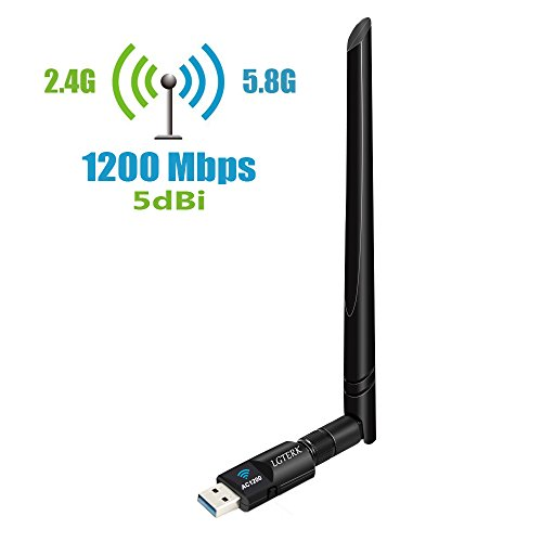 LGTERK Antena WiFi USB 1200Mbps Adaptador WiFi USB