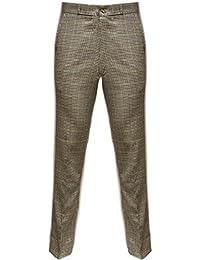 Relco - Pantalon en tweed à carreaux style Sta-Press - rétro - tailles US 28-40