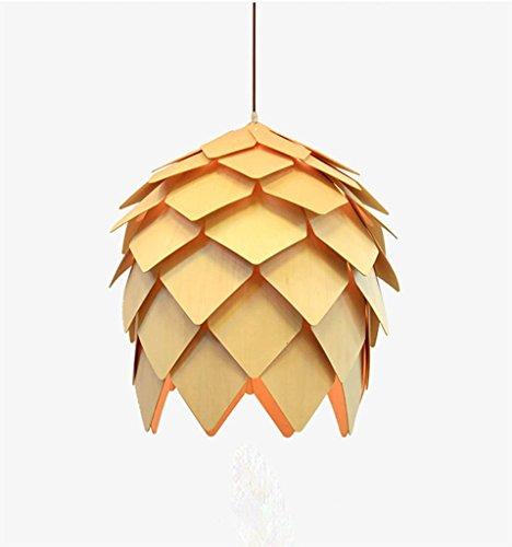 Kitzen ciondolo pino pino frutto echinacea e27 oaks luce monocromatica lampadario finestra ristorante beige illuminazione interni altezza regolabile (60cm) [risparmio energetico a +++] , 25cm for home, hotel
