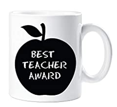Idea Regalo - Best Teacher PREMIO MELA tazza di ceramica regalo Thank You Teacher