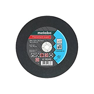 Metabo 616343000 616343000-Disco de tronzar Flexiamant Super A36-R INOX A 36-R Ø 350 x 3,0 x 25,4 mm (Envase de 10 Ud)