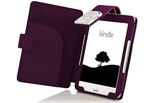 Forefront Cases Amazon Kindle eReader (8. Generation - 2016 Modell) Shell Hülle Schutzhülle Tasche Case Cover Stand mit LED Licht - Extra Robust und Leicht mit Rundum-Geräteschutz + Stift (VIOLETT)