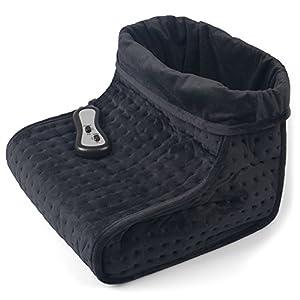 Vidabelle Fußwärmer mit Vibration und 2 Temperaturstufen in grau   inklusive Massagefunktion   Wärmeschuh mit Abschaltautomatik ist maschinenwaschbar