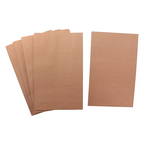 MagiDeal 10pcs Kraftpapier Papiertüten Partytüten Geschenkbeutel Party Taschen - Buff, L - Buff-tasche