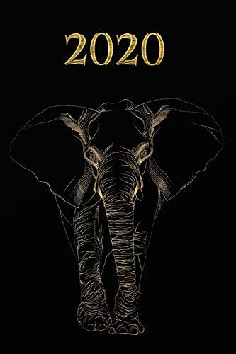2020: Schwarz Gold - Elefant Kalender - Wochenplaner - Zielsetzung - Zeitmanagement...