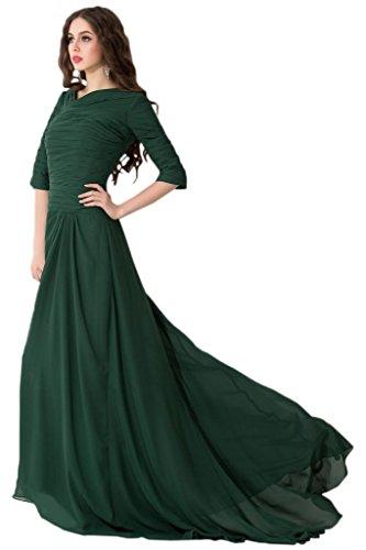 Sunvarey elegante Chiffon Prom Illusion per vestiti da sera, abiti da damigella d'onore Daffodil