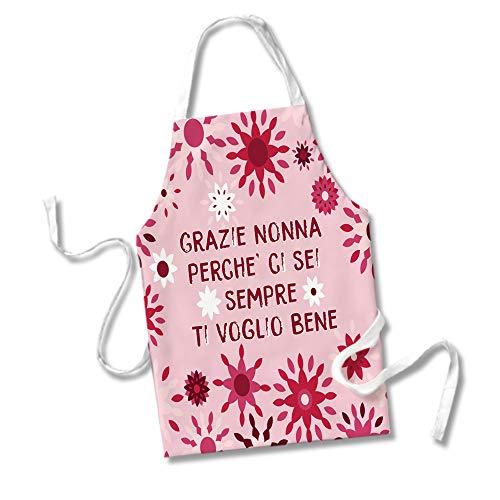 Grembiule da Cucina Idea Regalo Festa dei Nonni Grazie Nonna Perche' Ci Sei Sempre Ti Voglio B
