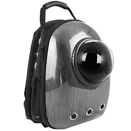 Citybag - zaino per trasporto di animali domestici cani e gatti trasportino in plastica rigida grigio