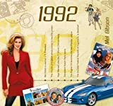 1992 Birthday Gifts For Women - 1992 Chart Hits CD and 1992 Year Greeting Card by Various - See Listing