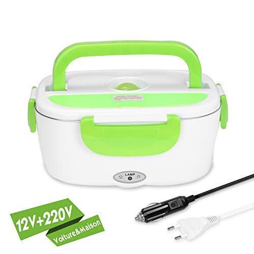 YISSVIC Boîte Chauffante 220V 12V Lunch Box Chauffante Électrique Boîte Alimentaires Boîte Repas en Acier Inoxydable pour Chauffage à la Maison et dans La Voiture