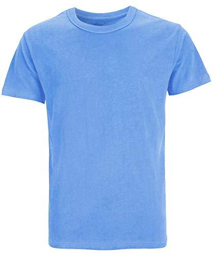 Carolina Cotton (COSAVOROCK Herren Schwere Baumwolle Dicke T-Shirts (XL, Carolina Blau))