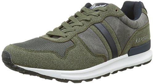 KaporalJoey - Sneaker Uomo , Verde (Verde (cachi)), 43