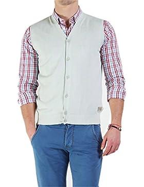 Carrera Jeans - Chaqueta de punto 841 para hombre, color liso, ajuste regular, sin mangas