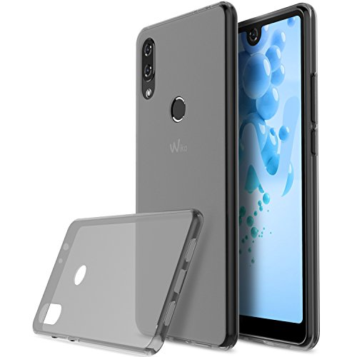 KuGi Wiko View 2 pro Hülle, Kratzfeste Hülle Wiko View 2 pro Schutzhülle Soft TPU Case Ultradünn Cover [Slim-Fit] [Anti-Scratch] [Shock Absorption] für Wiko View 2 pro smartphone. Schwarz