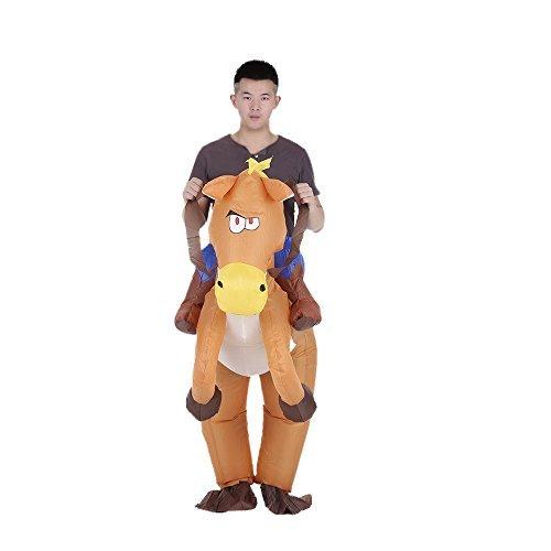 Anself Aufblasbares Kostüm Pferd und Cowboy Cosplay für Fasching ()