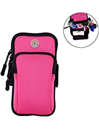 Running Belts Hot Pink: SAVORI Waterproof Sports Armband Bag Running Wrist Pouch Bag Phone Arm Package For Climbing...